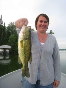 I caught a big bass!