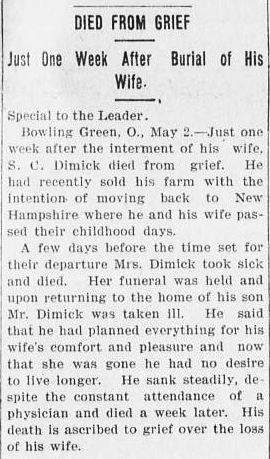 The Marietta (Ohio) Daily Leader, 3 May 1901, p.3.
