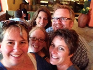 Had a great dinner with (clockwise) Jen Baldwin, Rorey Cathcart, Barry Kline and Deena Coutant.