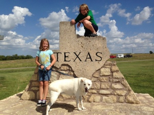 Our family's first crossing into Texas when we moved September 2014.