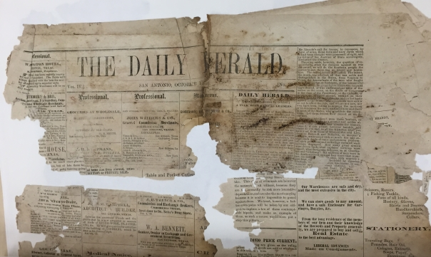 crumbling newspapers