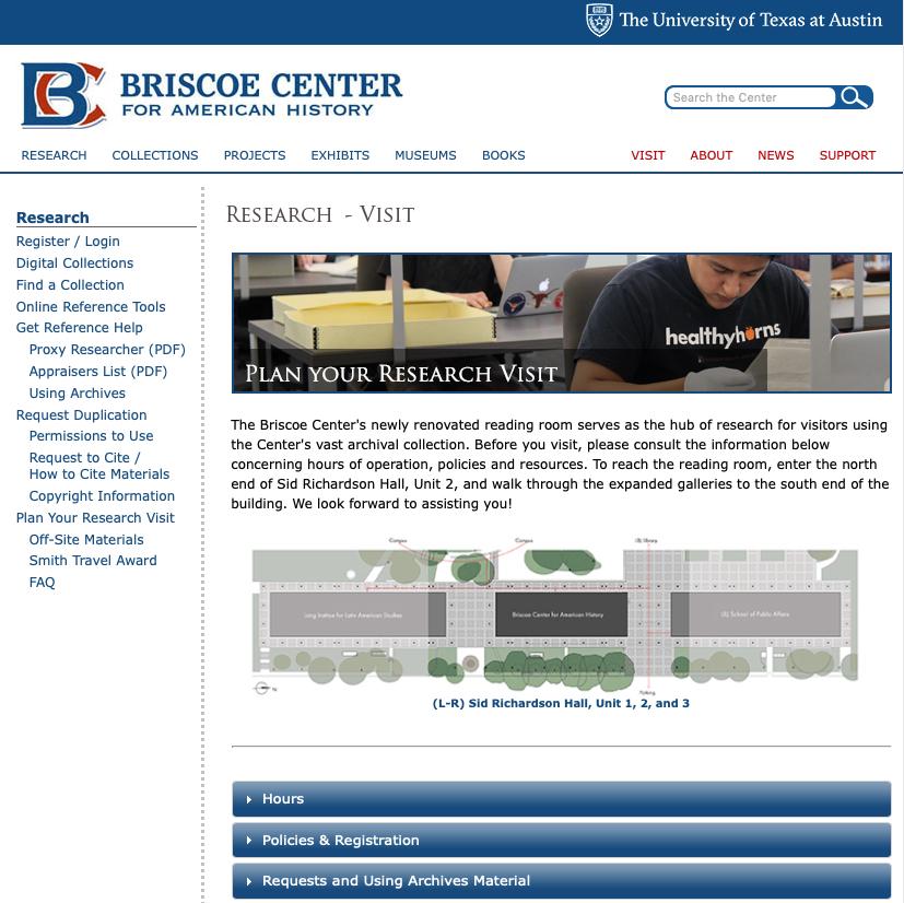 Briscoe Center Website