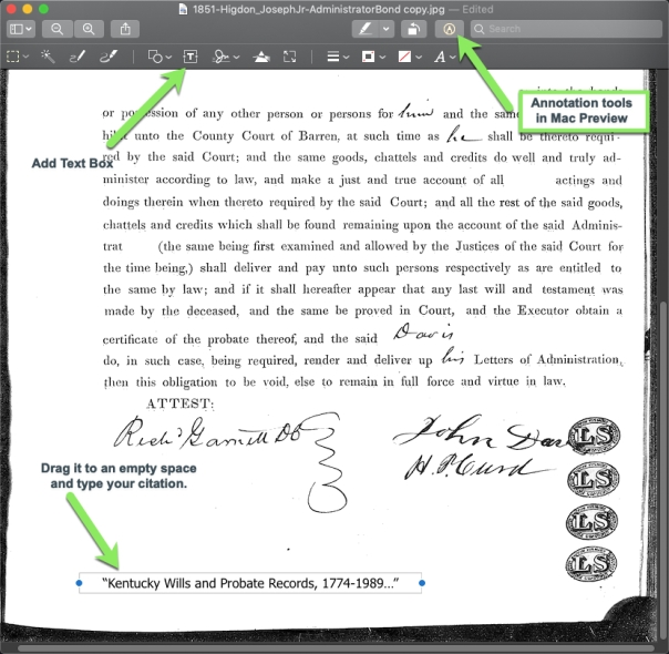 Citation Annotation