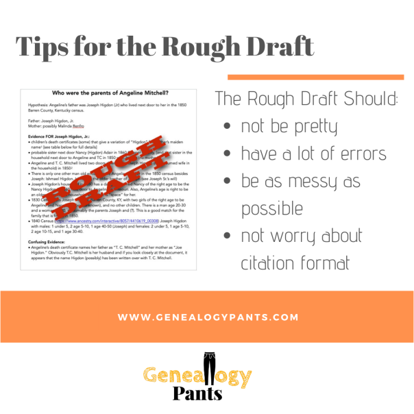 Tips for Rough Draft