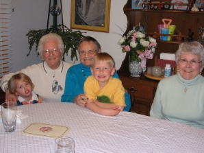 My daughter, Pinky, my grandma, Ethan, and Wilma